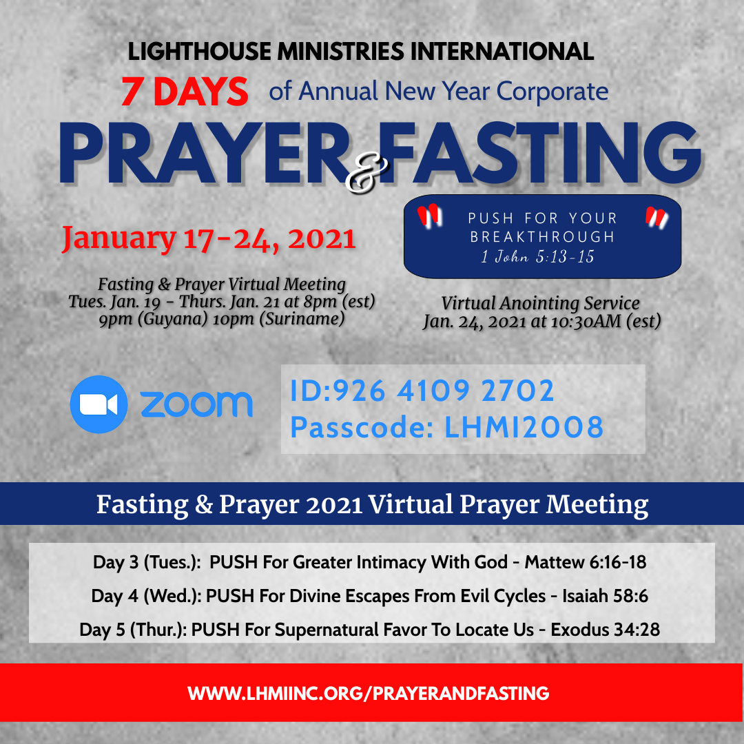 WELCOME_LHMI ANNUAL NEW YEAR CORP Prayer