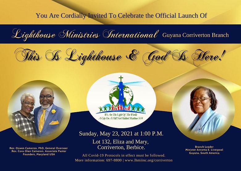 Official Launch invite - LHMI Guyana Cor