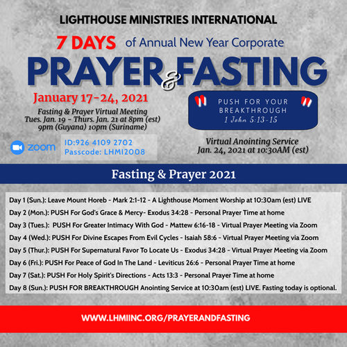 LHMI ANNUAL NEW YEAR CORP Prayer  Fastin