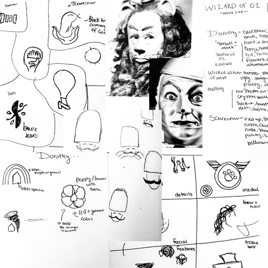 initial sketches and inspo board