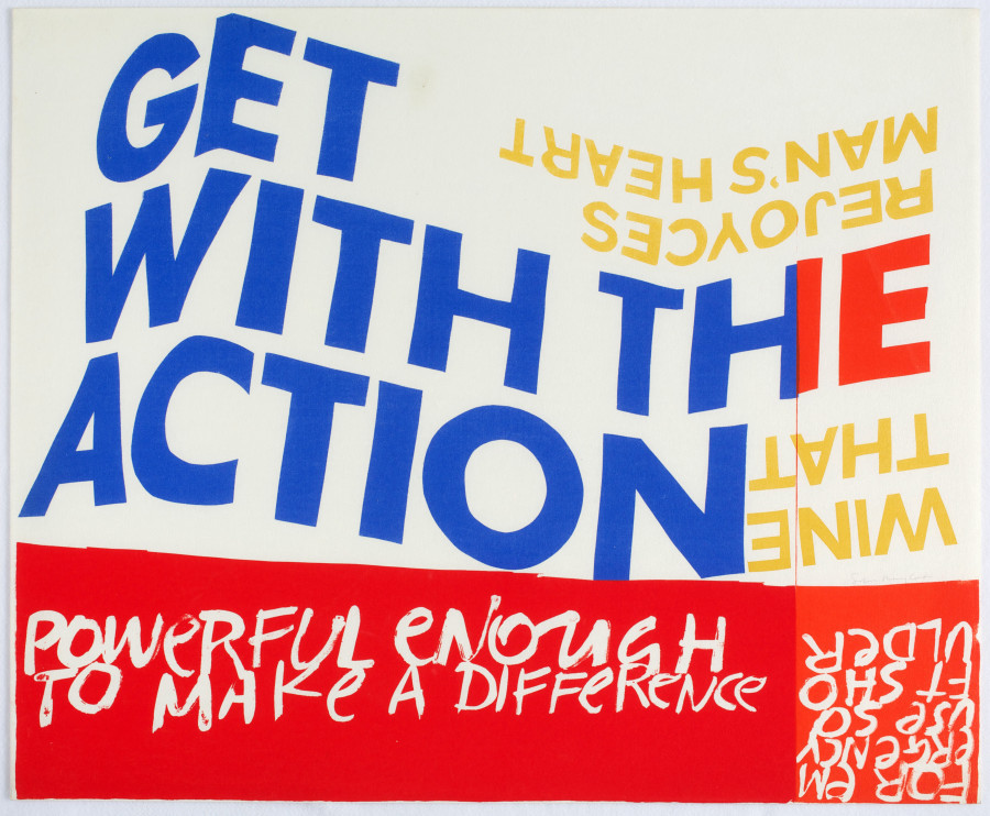 Poster with the headlines: Get with the action: Powerful enough to make a difference.