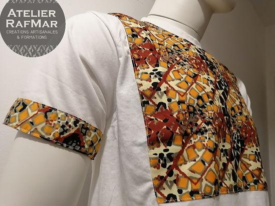 T-shirt en wax, t-shirt personnalisable, t-shirt tissu africain, t-shirt afrique