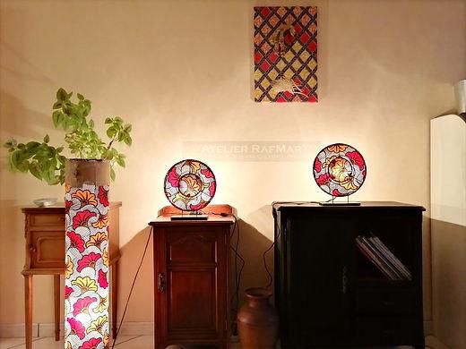 lampes en wax, lampe fleurs de mariage, lampe salon, lampe de chevet