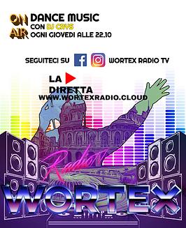 (GIOVEDI)LOCANDINA DJSET WORTEX RADIO GI