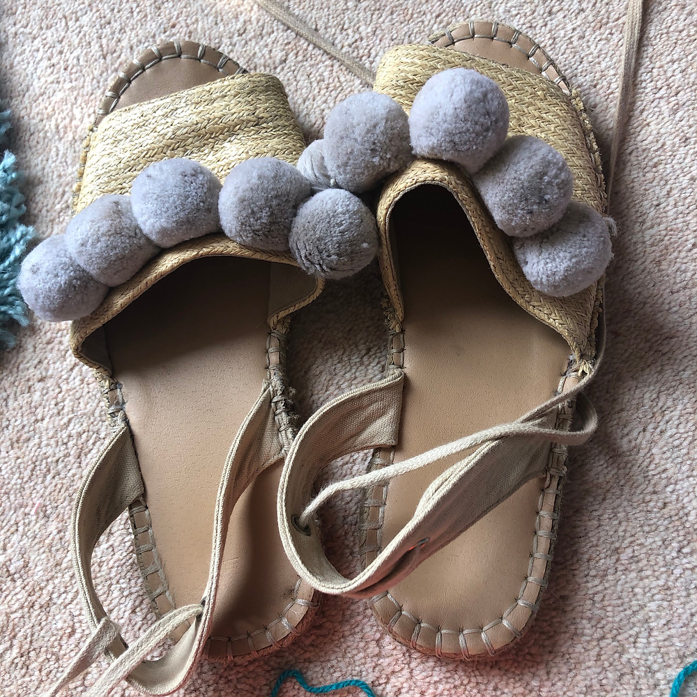 Before we jazzed up last year's summer sandals