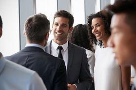 Group Of Businesspeople Having Informal
