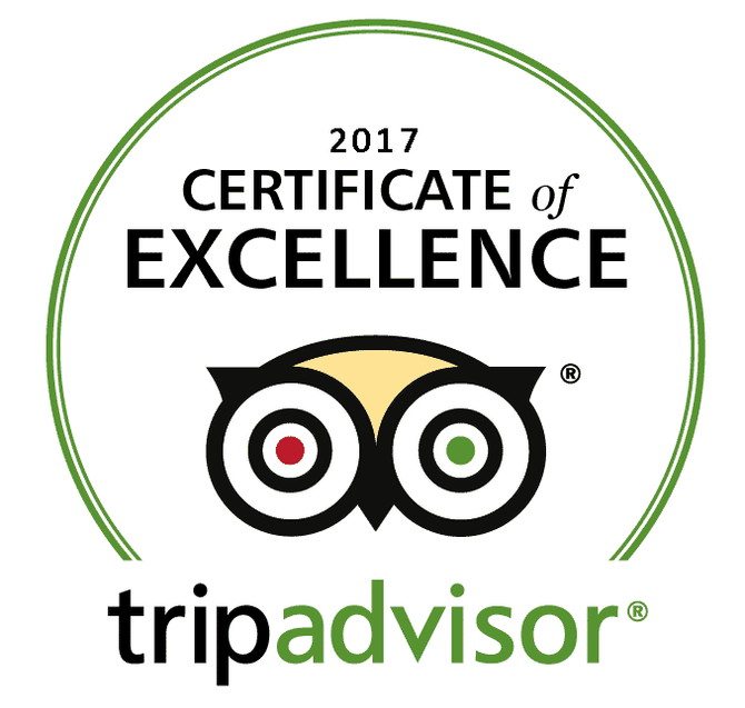 We Won Again!! Certificate of Excellence 2017