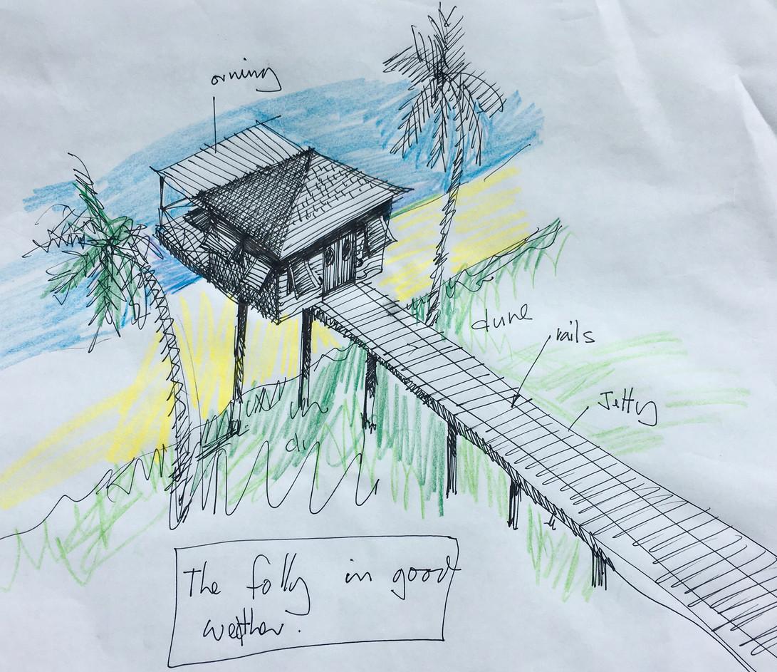 a sliding drawing studio - bahamas