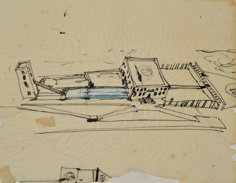 early sketch of the villa zapu