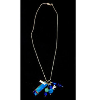 Stering Necklace in Shades of Blue
