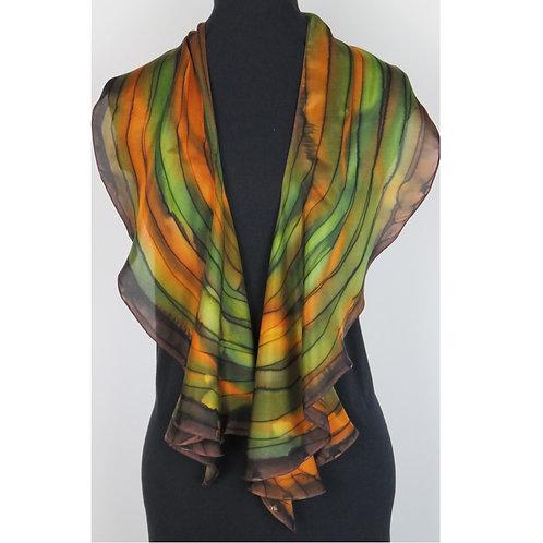 Spiral Silk Scarf # 13