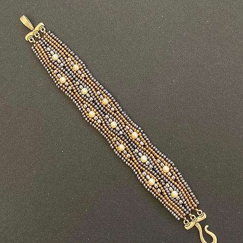 Grey & Gold Bracelet