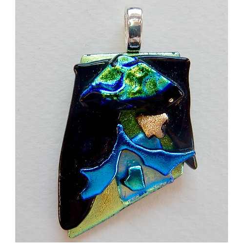 Fused Glass Pendant #2