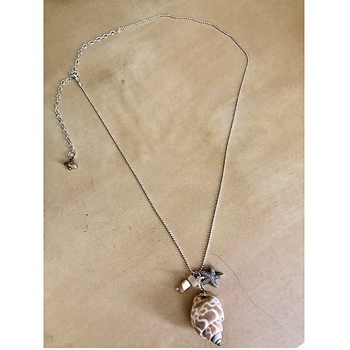 Sea Shell Silver Plated Necklace