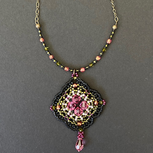 Black and rose pendant