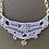 Thumbnail: Blue micromacrame necklace