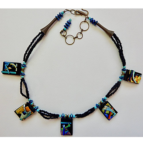 One-of-a kind Dichroic Necklace