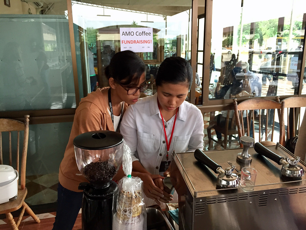 Lyn had the opportunity to use her barista skills in Thailand!