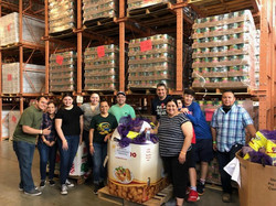 Food bank with team!