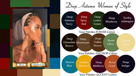 seasonal color analysis deep autumn