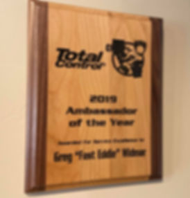 Total Control Award for Greg Widmar | MotoJitsu
