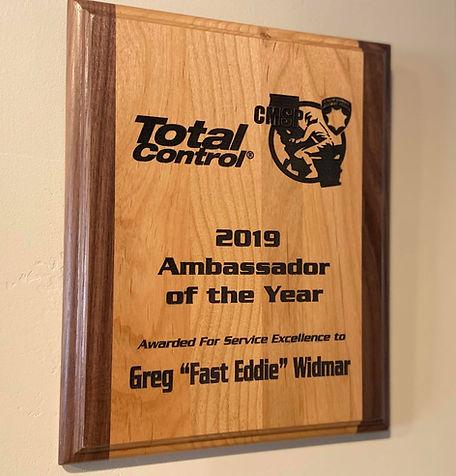 Total Control Award for Greg Widmar | MotoJitsu