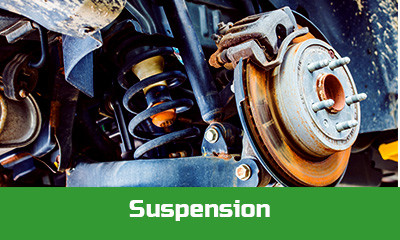 The condition of a vehicles suspension determines its level of stability and safety on the road as well as comfort while driving. Every serviced vehicle gets a full suspension check and report of any faults which may not be immediately apparent. We check for uneven tyre wear and examine each suspension arm and bush individually for your vehicle's safety and comfort. If you are experiencing knocking or other sounds while going over bumps or are concerned for the steering of your vehicle book in for a complete suspension check over and report.