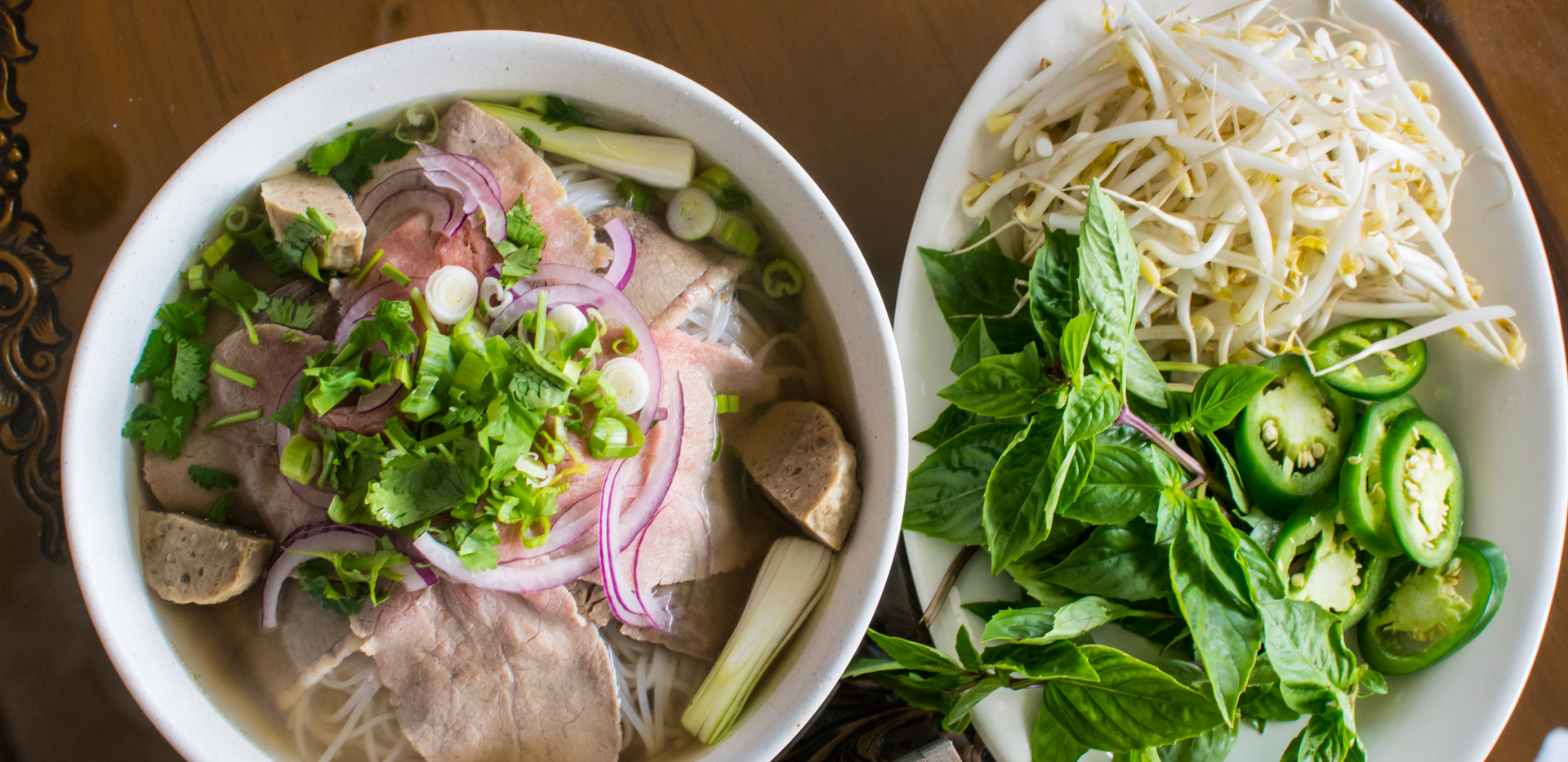 Vietnamese Pho (Beef Pictured)