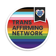 The logo of the Trans Affirming Network at Skipping Stone.