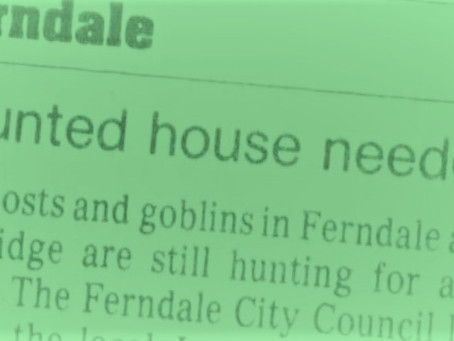 Mayor's Editorial for 1/1/2020 - Haunted Houses Part 1