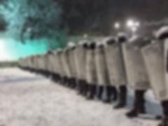 Dec 2013, Ukraine. Police checkpoint in