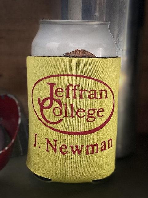 Jeffran College Logo Can Koozie