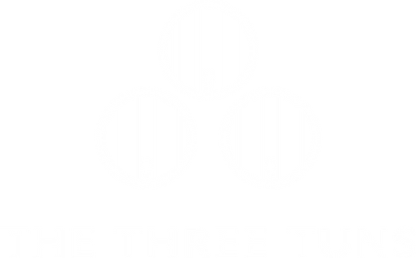The Three Tuns - logo white - 20210328.p