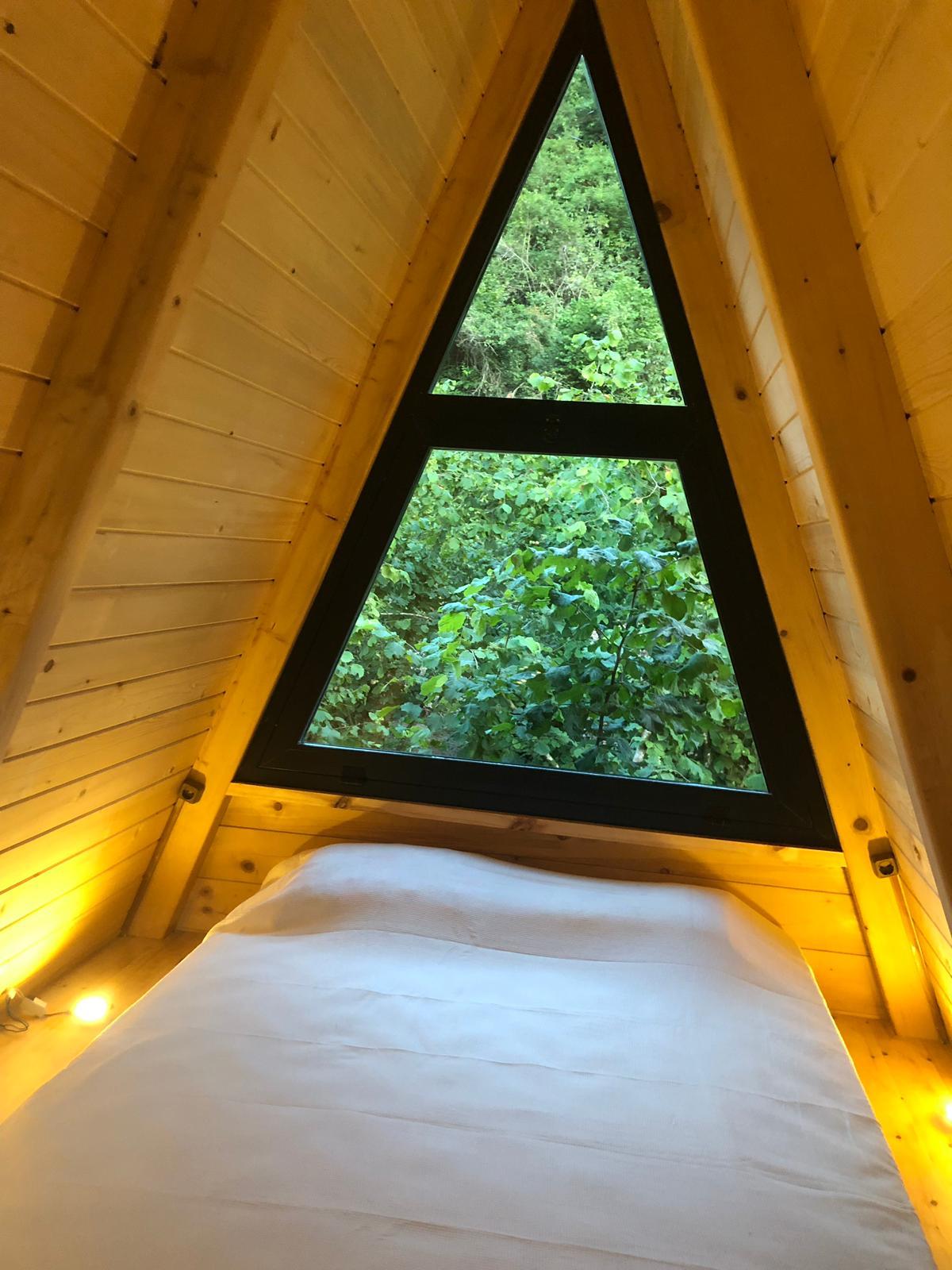 Bungalov asmakat yatak manzarası