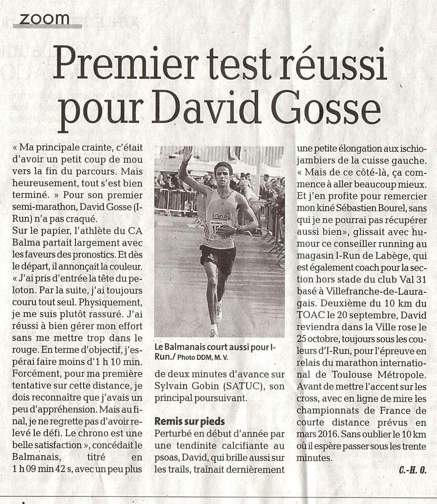 Semi-marathon de Tournefeuille octobre 2015-2