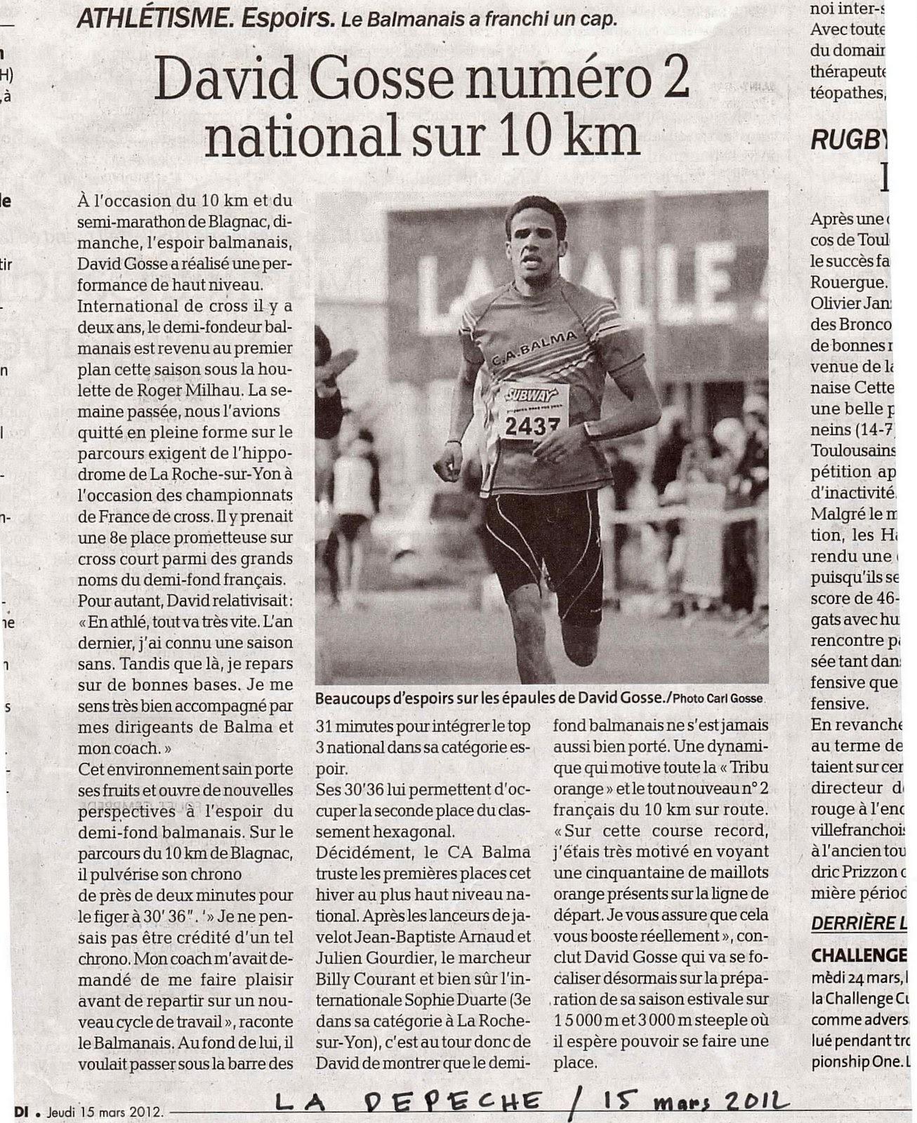 France de 10Km 2012 - second espoir