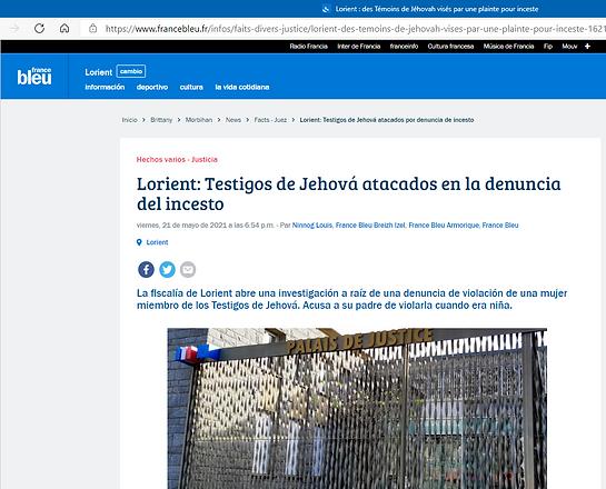 Lorient _ des Témoins de Jéhovah noticia