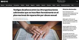 Testigos de Jehová entre las 34 organizaciones adicionales que se inscriben formalmente en el plan n