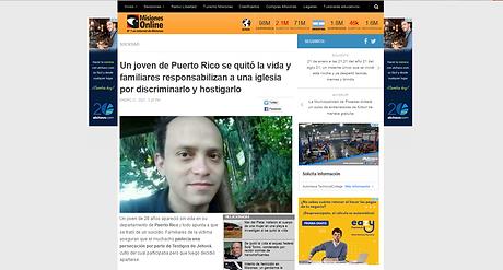 Un joven de Puerto Rico se quitó la vida