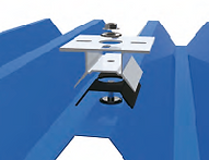 Montaje para chapa trapezoidal