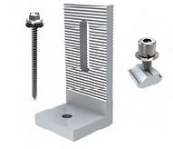 Montaje para chapa en L  aluminio