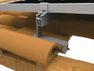 Soporte para montaje en teja romana auminio