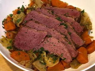 Easy Crock-pot Bourbon Corned Beef & Cabbage