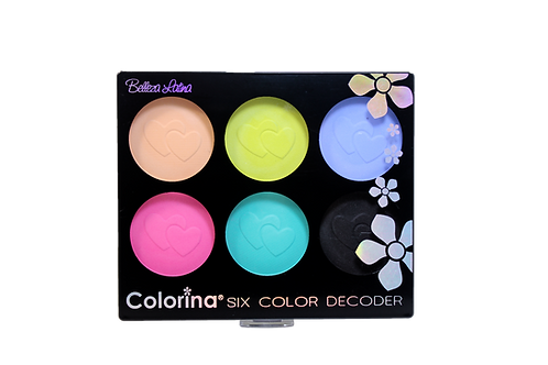 COLORINA 6 COLOR MATTE EYESHADOW PALETTE #3