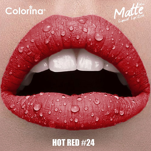 COLORINA MATTE LIPGLOSS HOT RED #24