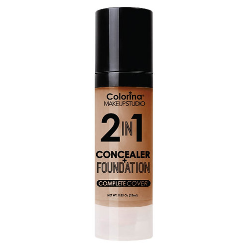 COLORINA 2in1 CONCEALER and FOUNDATION NUTMEG
