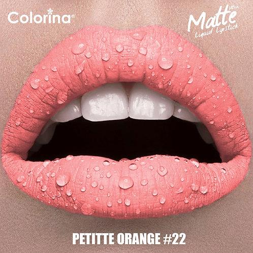 COLORINA MATTE LIPGLOSS PETTITE ORANGE #22