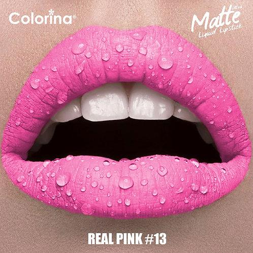 COLORINA MATTE LIPGLOSS REAL PINK #13