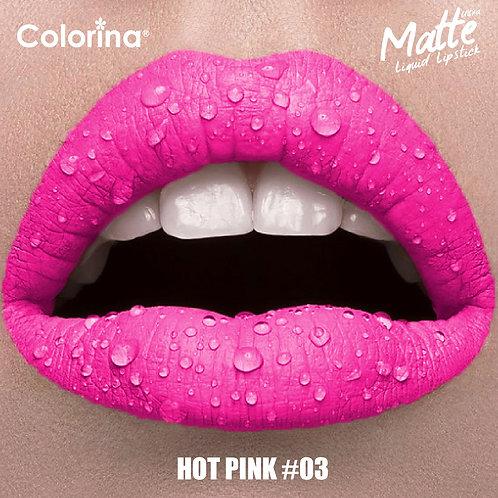 COLORINA MATTE LIPGLOSS PINK #03