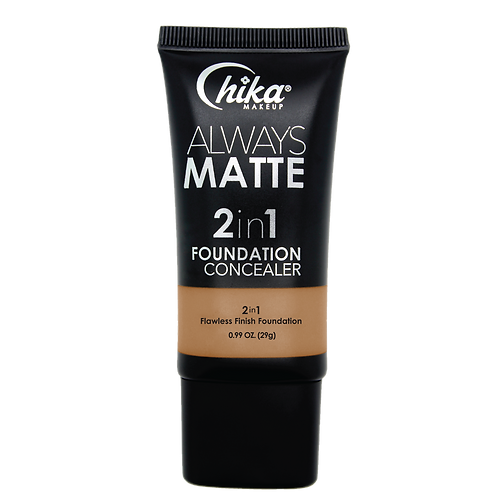 CHIKA ALWAYS MATTE 2 IN1 FOUNDATION CARAMEL BEIGE #08